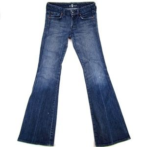 7 For All Mankind Bootcut Low Rise Dark Wash Women